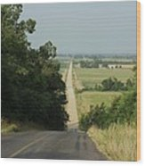 Where The Highway Ends And Country Begins Wood Print