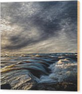 Where The River Kisses The Sea Wood Print by Bob Orsillo