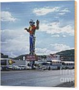 Where The West Begins Stateline Casino In Wendover Nevada 1962 Wood Print