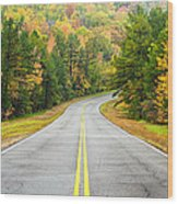 Where This Road Will Take You - Talimena Scenic Highway - Oklahoma - Arkansas Wood Print