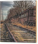 Where Trains Go To Die Wood Print