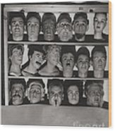 Find The Real Ventriloquist Head Wood Print