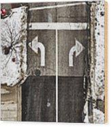 Which Way Wood Print by Margie Hurwich