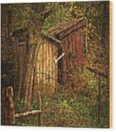 Which Way To The Outhouse? Wood Print