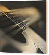 While My Guitar Gently Weeps Wood Print by Laura Fasulo