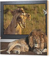 While The Lion Sleeps Tonight Wood Print