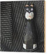 Whimsical Cat Wood Print