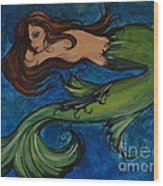 Whimsical Mermaid Wood Print