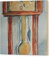 Whimsical Time Piece Wood Print