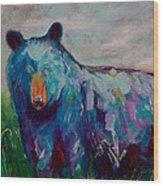 Whimsy Bear Painting Black Bear Brown Bear Wall Art Wood Print