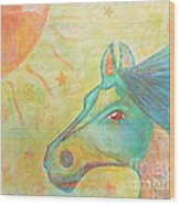 Whimsy Colorful Horse Wood Print