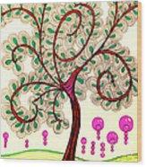 Whimsy Tree Wood Print
