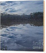 Whipped Cream Christmas Reflection Wood Print