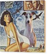 Whippet Art - Suddenly Last Summer Movie Poster Wood Print