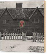 Whipple House Christmas Wood Print