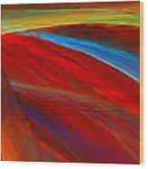 Whirled Colors Wood Print