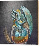 Whiskey Dragon Wood Print