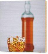 Whiskey Glass Wood Print