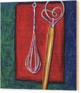 Whisks Wood Print