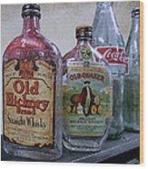 Whisky And Coke Wood Print