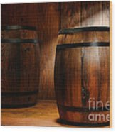 Whisky Barrel Wood Print