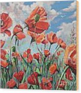 Whispering Poppies Wood Print
