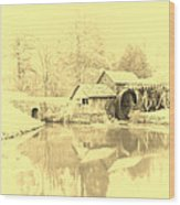 Whispers Of Mabry Mill Wood Print