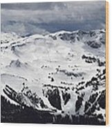 Whistler Mountain View From Blackcomb Wood Print