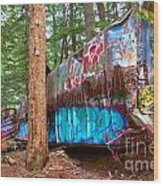 Whistler Train Wreck Box Car Graffiti Wood Print