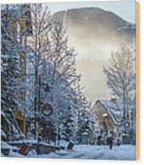 Whistler Village On A Sunny Winter Day Wood Print