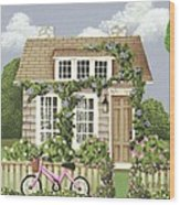 Whitby Cottage Wood Print by Catherine Holman