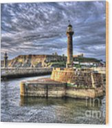 Whitby Harbour On The North Yorkshire Coast Wood Print