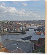 Whitby Rooftops Wood Print