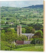Whitchurch Canonicorum Overview  Wood Print