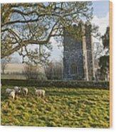Whitcombe Church Wood Print