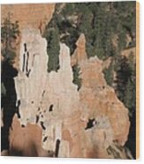 White And Red Rocks Of Bryce Np Wood Print