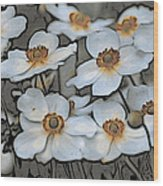 White And Yellow Wood Print
