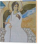 White Angel  Wood Print by Jovica Kostic