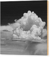 White Billowing Cloud Formation In Montana Wood Print