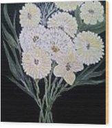 White Bouquet Wood Print