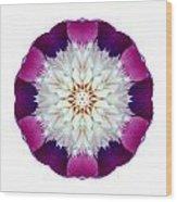 Bowl Of Beauty Peony II Flower Mandala White Wood Print