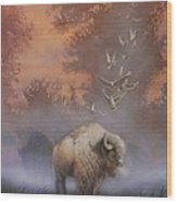 White Buffalo Spirit Wood Print