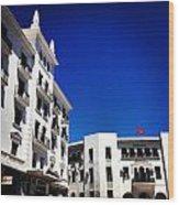 White Buildings On Blue Sky IIi Wood Print