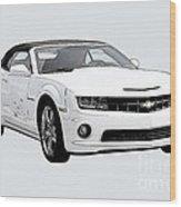 White Camaro Wood Print