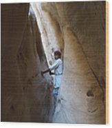 White Canyon Path Desert Sinai Egypt Wood Print