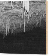 White Cave Needles Wood Print