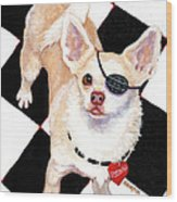 White Chihuahua - Pistachio Wood Print