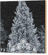 White Christmas In Texas Wood Print