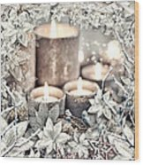 White Christmas Wood Print by Mo T