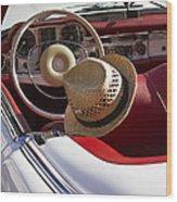 White Classic Mercedes Benz 230 Sl Wood Print